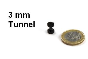flesh tunnel 3mm