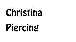 Christina frau intim piercing Genital