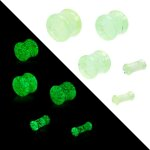 Glow in the dark - Plug - Glas 12 mm
