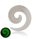 Glow in the dark - Schnecke - Klar 12 mm