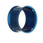 Double Flare Flesh Tunnel - Stahl - Blau 8 mm