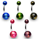 Bauchnabelpiercing - Design Color [2.] - grün