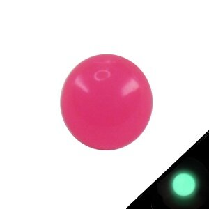 Piercing Kugel - Kunststoff - Glow in the dark - Pink