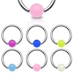 Piercing Klemmring - Silber - Glow in the dark - Bunt...