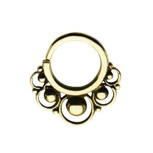 Septum Piercing - Messing - Gold - Verzierung #1