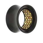 Flesh Tunnel - Kunststoff - Innenmuster - Gold 10 mm