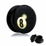 Picture Plug - Gewinde - 8 Ball