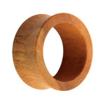 Holz Flesh Tunnel - Braun - Tigerholz