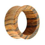 Holz Flesh Tunnel - Braun - Zebrano 12 mm