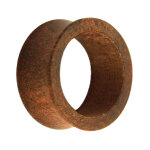 Holz Flesh Tunnel - Braun - Tineo 6 mm