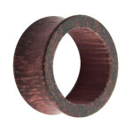 Holz Flesh Tunnel - Braun - Lila - Amaranth 4 mm