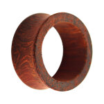 Holz Flesh Tunnel - Rotbraun - Padouk 8 mm