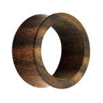 Holz Flesh Tunnel - Dunkelbraun - Bocote 14 mm