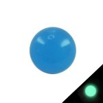Piercing Kugel - Kunststoff - Glow in the dark - Blau...