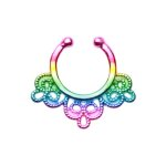 Fake Septum Piercing - Regenbogen - Ornament