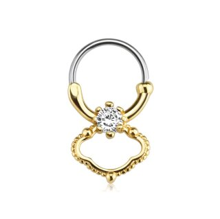 Septum Klicker - Ring - Gold - Kristall - Elegant