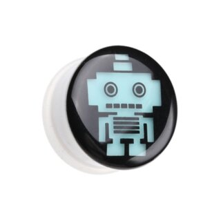 Picture Plug - Glow in the dark - Weiß - Roboter