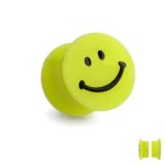Magnet Fake Plug - Silikon - Gelb - Smiley [1.] - 8 mm
