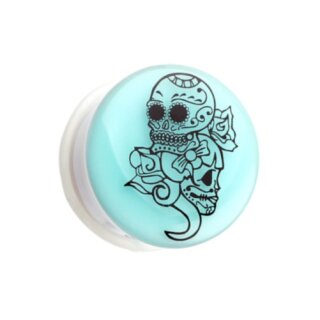 Picture Plug - Glow in the dark - Weiß - Sugar Skull