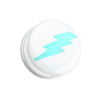 Picture Plug - Glow in the dark - Weiss - Blitz