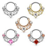 Septum Klicker - Ring - Ornament - Kristall - Eckig