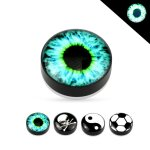 Magnet Fake Plug - Glow in the dark - Motiv [1.] - Auge
