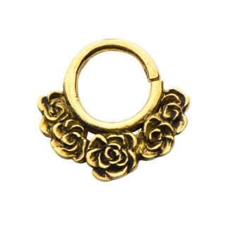 Septum Piercing - Messing - Gold - Rosen