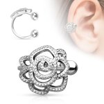 Ear Cuff - Silber - Rose
