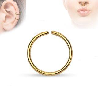 ring mit feinen kugeln gold