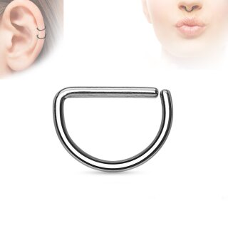 Piercing Ring - Continuous Ring - Halbrund - Silber