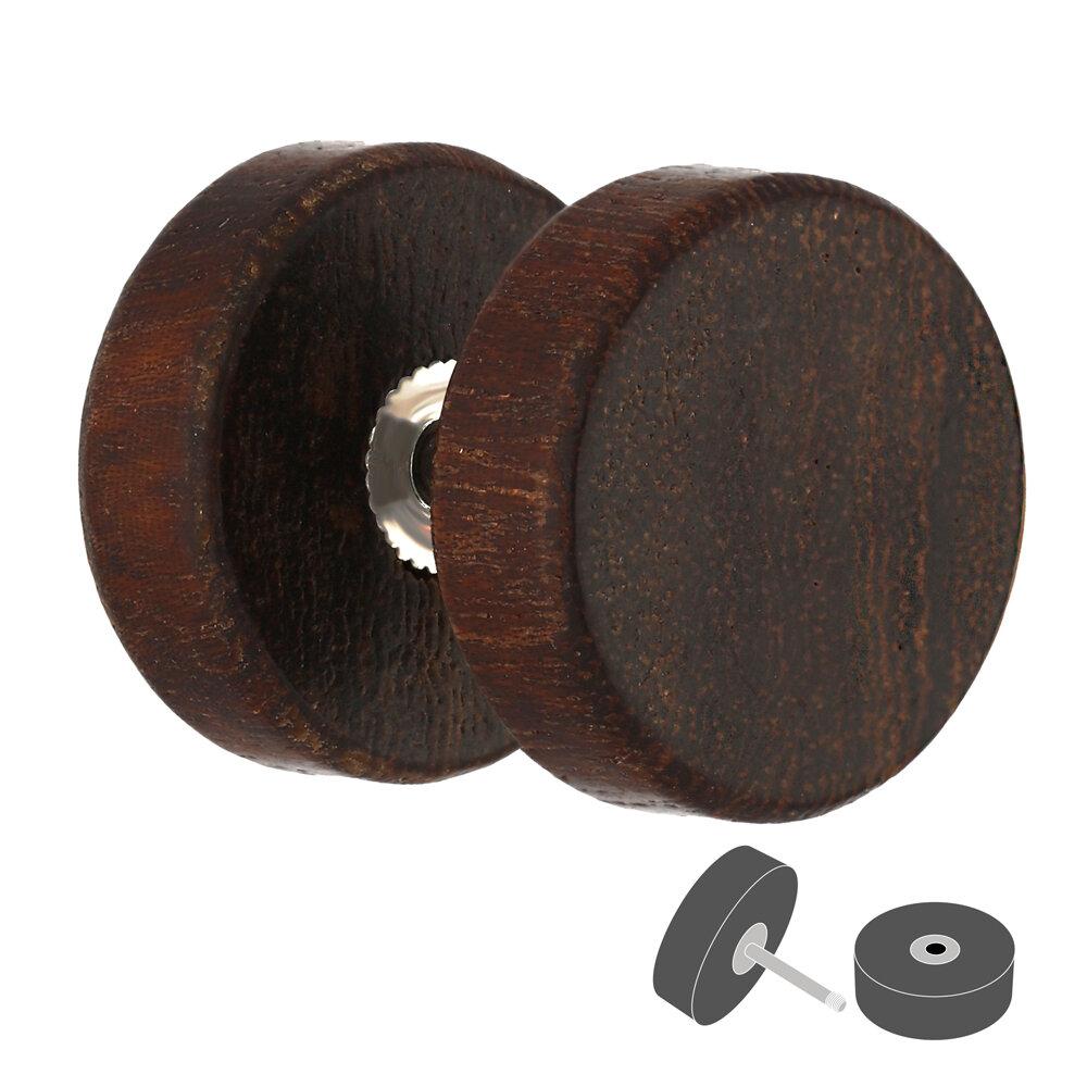 holz ohrstecker m gewinde zum schrauben dunkelbraun fake plug braun. Black Bedroom Furniture Sets. Home Design Ideas