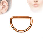 Piercing Ring - Continuous Ring - Halbrund - Rosegold -...