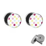 Motiv Fake Plug Set - Polka Dots - Bunt