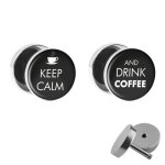 Motiv Fake Plug Set - Keep Calm and drink Coffee