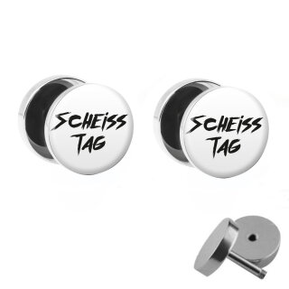 Motiv Fake Plug Set - Scheiss Tag