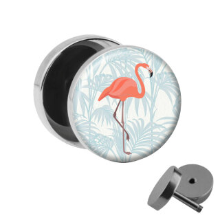 Motiv Fake Plug - Flamingo - Palme