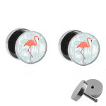 Motiv Fake Plug Set - Flamingo - Palme