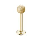 Piercing Labret - Stahl - Diamant - Gold