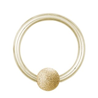 Piercing Klemmring - Stahl - Diamant - Gold