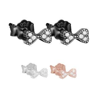 efe01ff09a25 925 Silber ANKER OHRSTECKER Set (Paar)   Roségold Gold Schwarz Silver
