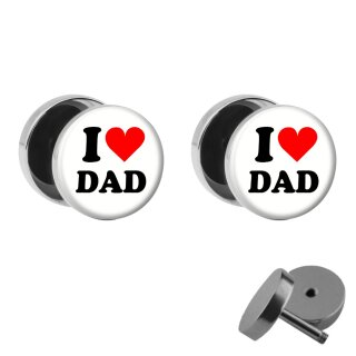 Motiv Fake Plug Set - I love Dad