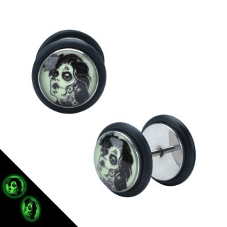 Motiv Fake Plug - Glow in the dark - Horror