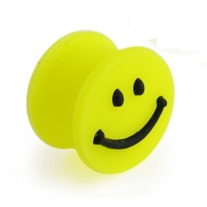 Silikon Plug - Gelb - Smiley