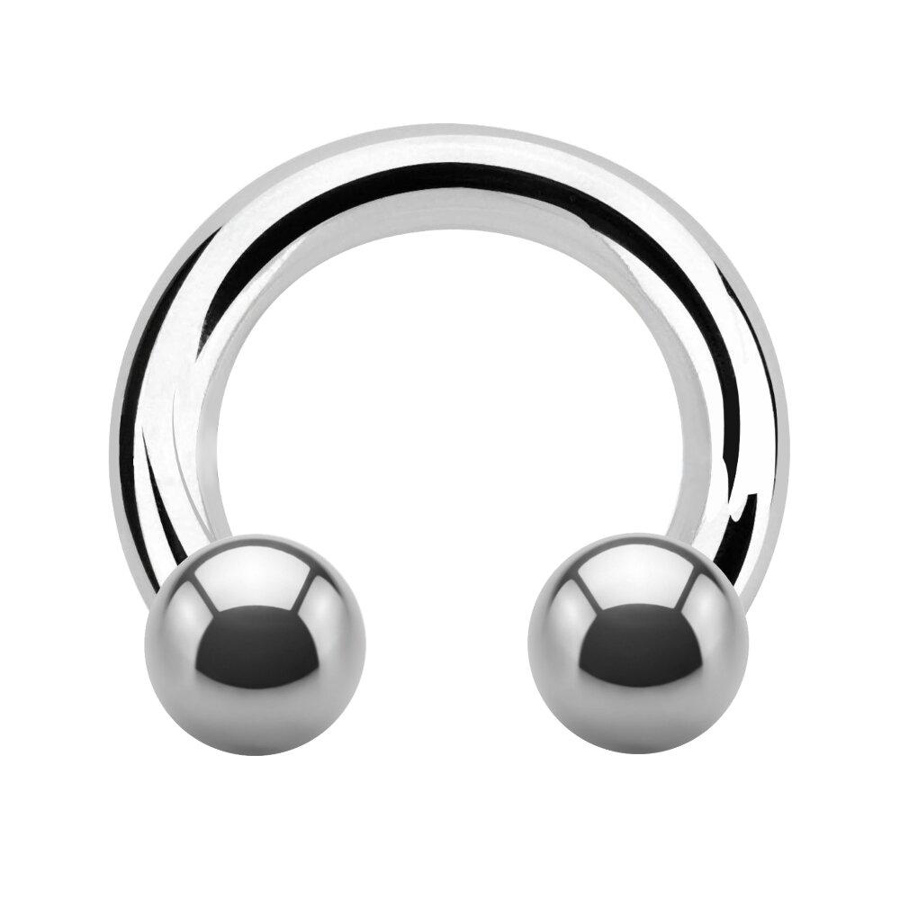 SCHWARZ 2mm Hufeisen Ring Ohr Septum Brust Intim Piercing Circular Barbell