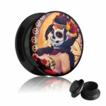 Picture Plug - Gewinde - La Catrina - Orange 10 mm