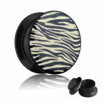 Picture Plug - Gewinde - Zebra 8 mm